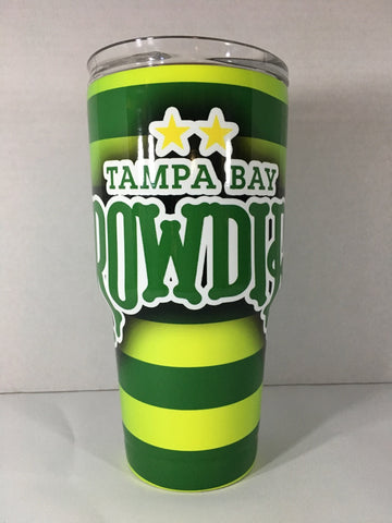 Tampa Bay Rowdies Tumbler, Personalized Tumbler, Custom 30oz Be Seen Designs Tumbler Fully Wrap