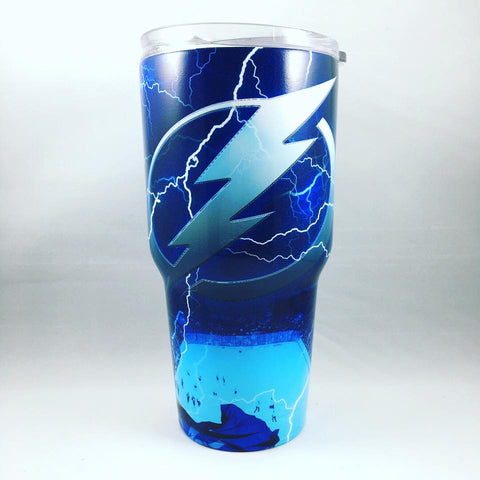 Tampa Bay Lightning Tumbler, Personalized Tumbler, Custom 30oz Be Seen Designs Tumbler Fully Wrap