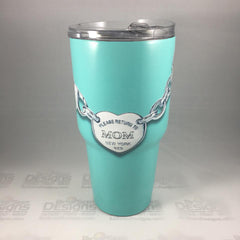 breakfast at tiffany Tumbler, Personalized Tumbler, Custom 30oz Be Seen Designs Tumbler Fully Wrap