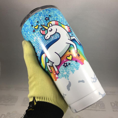 Unicorn Tumbler, Personalized Tumbler, Custom 30oz Be Seen Designs Tumbler Fully Wrap