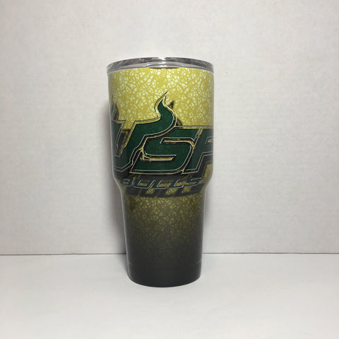 USF Bulls Tumbler, Personalized Tumbler, Custom 30oz Be Seen Designs Tumbler Fully Wrap