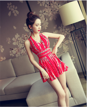 SLIM CONSERVATIVE KOREAN SKIRT SWIMSUIT