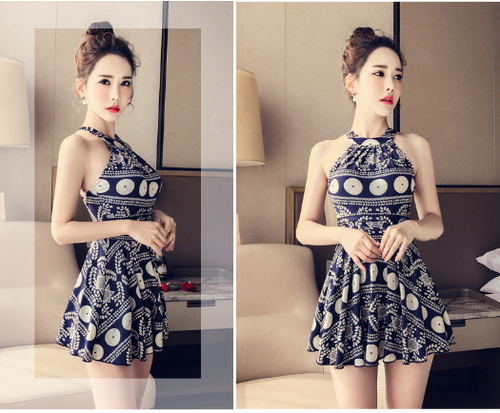 ELEGANT AND CONSERVATIVE SWIMSUIT FEMALE DRESS