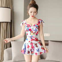 2017 NEW KOREAN STYLE FLORAL ONE PIECE SWIMSUIT