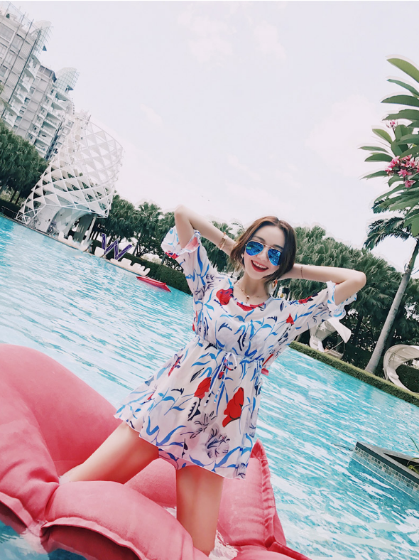 JACKET FIVE SLEEVES CONSERVATIVE SWIMSUIT