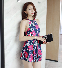 FASHION STYLE FLOWERS PRINTED SWIMSUIT