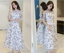 RETRO LONG SKIRT YARN SHOULDER DRESS