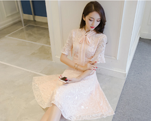 NEW FEMALE KOREAN VERSION OF THE WHITE CENTS TEMPERAMENT LACE SKIRT