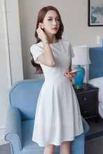 KOREAN FASHION SPRING AND AUTUMN WAS THIN WHITE DRESS