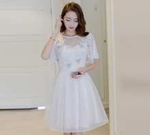 LADIES NET YARN SPEAKER SLEEVES CHIFFON DRESS