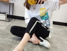 LOOSE CASUAL PANTS LADY NINE PANTS
