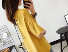 V COLLAR T-SHIRT LOOSE HALF-SLEEVED SHIRT