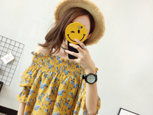 SHORT-SLEEVED SPEAKER SLEEVES FLORAL CLOTHES