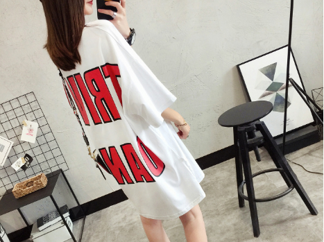 SHORT SLEEVE T-SHIRT WOMEN'S HALF-SLEEVED SHIRT HAN FAN