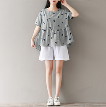 ARTISTIC RETRO ROUND NECK SHORT SLEEVE T SHIRT