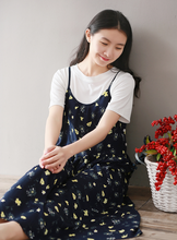VINTAGE COTTON PRINT LONG TROUSERS DRESS + T - SHIRT