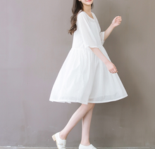 COTTON CLOTH WHITE FAIRY DRESS TIDE