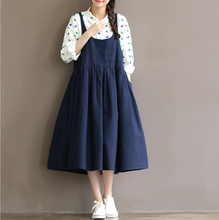 SLEEVELESS DRESS SKIRT VEST DRESS COTTON DRESS