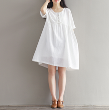 WHITE FAIRY DRESS STYLE COTTON CLOTH DRESS TIDE