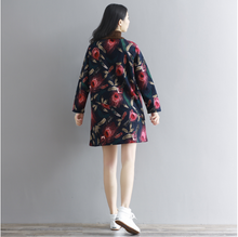 THICKENED PRINTING STITCHING SWEATER DRESS SPRING AND WINTER CLOTHING