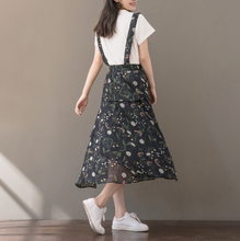 LOOSE CHIFFON FLORAL BACK SKIRT