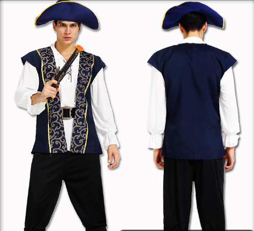 PIRATE HAT WITH JACKET AND DUMPLING  PANTS  AND SHOE COVER