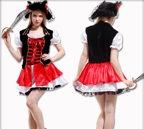 BLACK SKIRT PIRATE HATS AND DRESSES