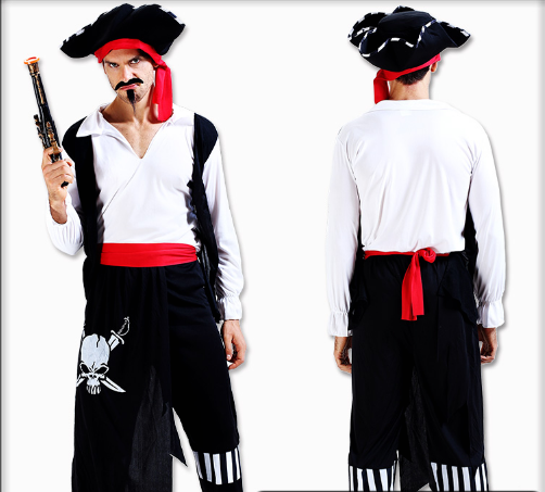 LEGS GHOST PIRATE HAT WITH TOPS BELT AND PANTS
