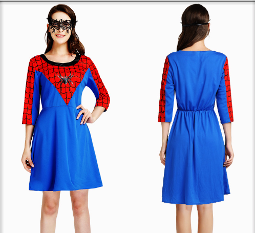 PRETTY FEMALE SPIDER MAN GOGGLES AND DRESSES