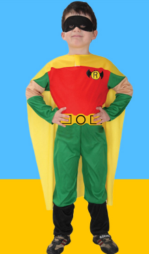 ROBIN LITTLE SUPERMAN CLOAK WITH SMALL BELT AND GOGGLES