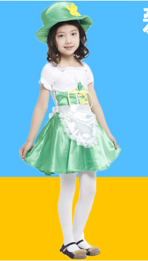 ALICE GREEN DRESSES WITH APRONS AND BELT