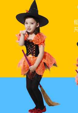 CHIFFON LOVELY WITCH DRESS WITH HAT AND TIE