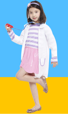TOY SMALL DOCTOR COAT JACKET WITH SKIRT AND HEADDRESS