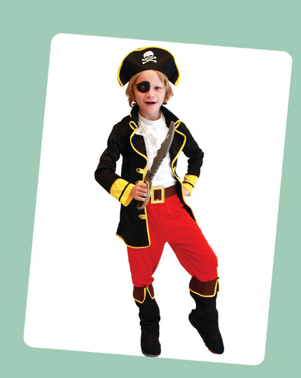 PIRATES OF THE CARIBBEAN PIRATE GARMENT CAPTAIN