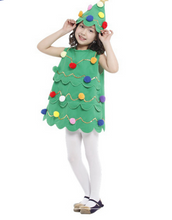 PLAYFUL CHRISTMAS TREE DRESS WITH HAT