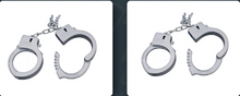 PLASTIC HANDCUFFS BLACK CAT POLICE LONG HANDCUFFS