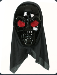 HALLOWEEN BLACK ROBOT MASK