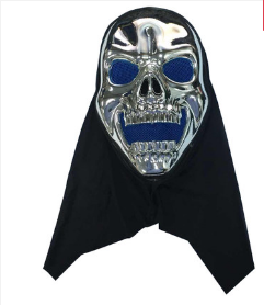 HALLOWEEN SILVER BLUE SKELETON MASK
