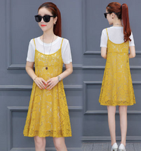 LACE HARNESS DRESS KOREAN T-SHIRT