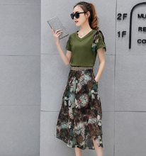 FASHION KOREAN VERSION OF IRREGULAR SKIRT PANTS TWO SETS