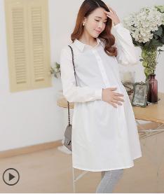 KOREAN LONG SLEEVE PREGNANT WOMEN SHIRT SKIRT