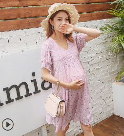 FLORAL CHIFFON SKIRT SUMMER PREGNANT WOMEN SKIRT