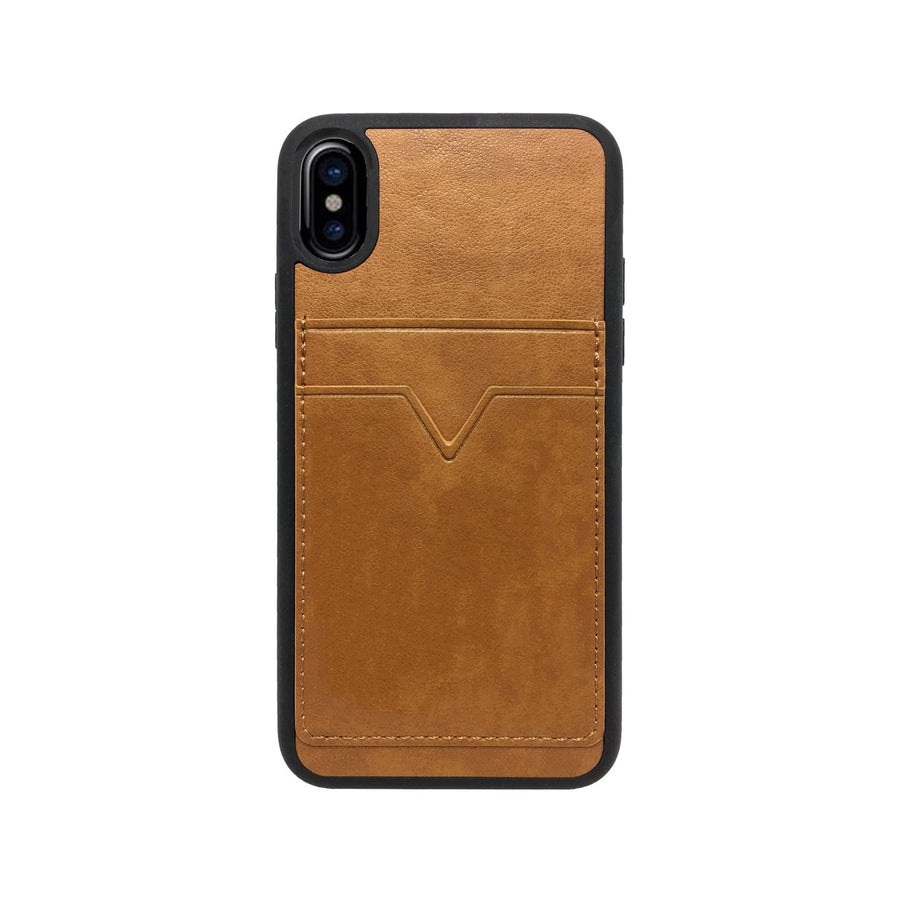 Shell Series Case for iPhone X [Brown Leather Wallet]