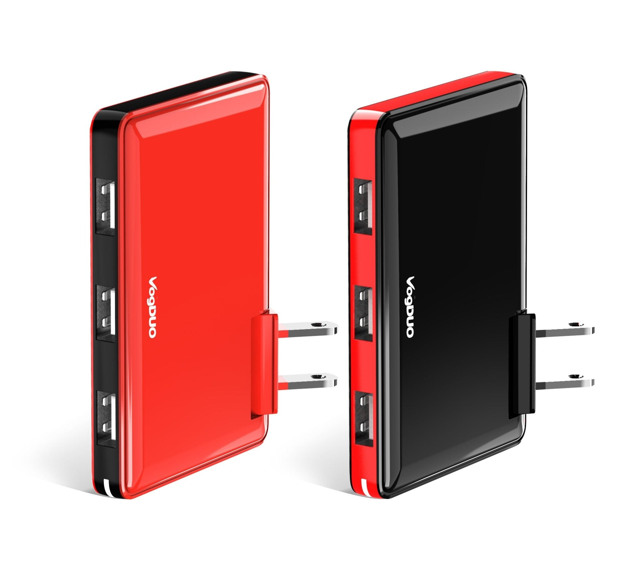 Slim Wall Chargers - Couple's Pack- Black and Red (UL/DoE VI)