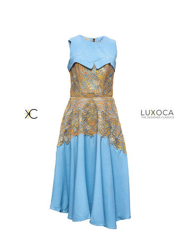 House of Damaris Blue Turquoise Gown