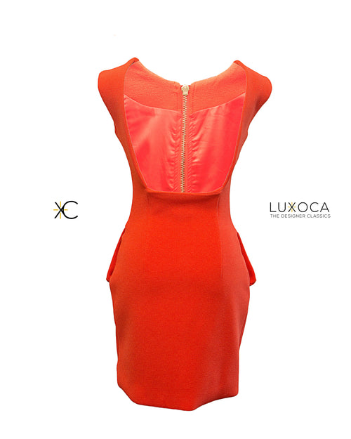 AQAQ Commodore Red Backless Mini Dress UK 8