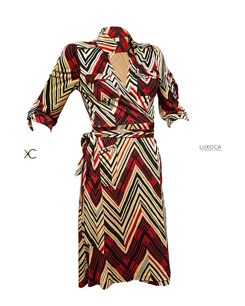 Diane Von Furstenburg Classic Wrap Dress UK 12