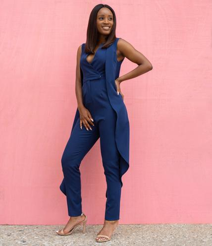Italian Royal Blue Jumpsuit