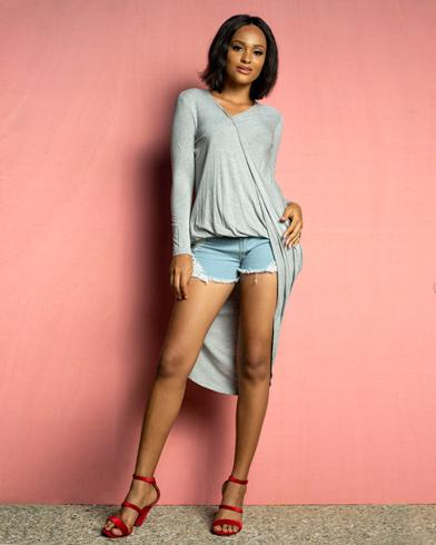 Grey Delight Dress Top