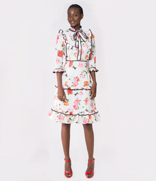 Premium Floral Day Dress